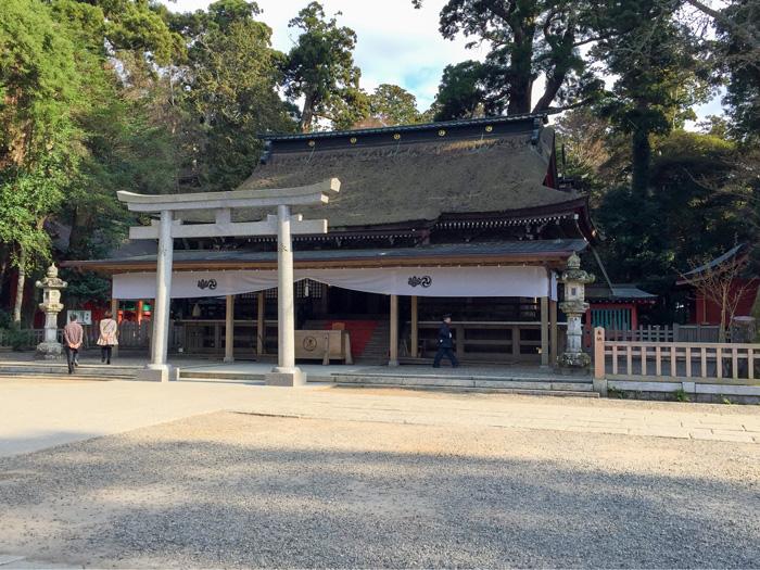 江戸時代前期に建てられた鹿島神宮の拝殿