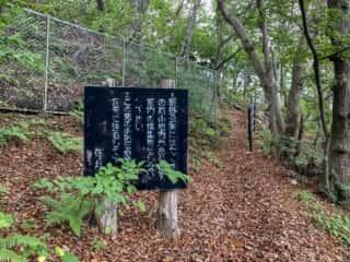 願掛公園の山道