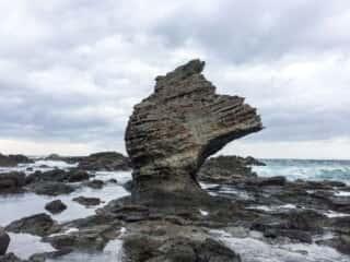 千畳敷のかぶと岩