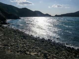 伊島の美しい海岸線