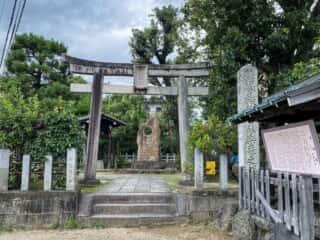 大酒神社 鳥居と境内
