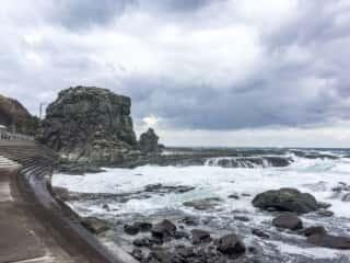 千畳敷海岸の奇石
