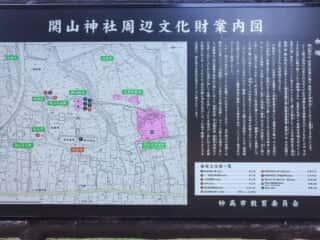 関山神社周辺 案内図