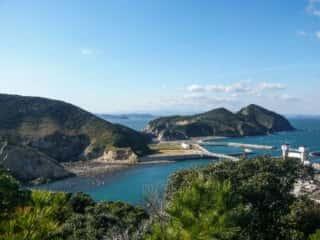 伊島の自然 伊島の山道からの景色