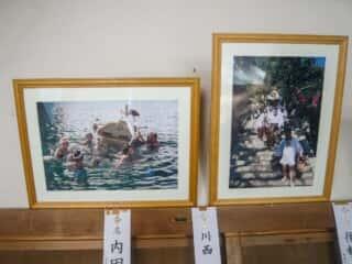 伊島の自然 当所神社 祭りの記念写真