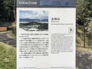 金鶏山の説明板
