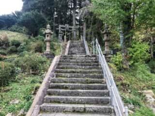 早池峰神社 参道の階段