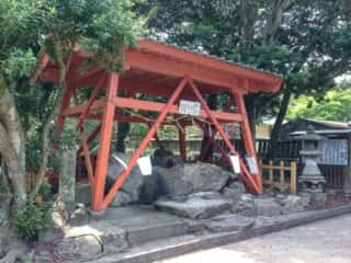 奈多宮神社 手水舎